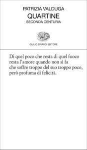 Copertina del libro Quartine di Patrizia Valduga