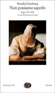 Copertina del libro Non possiamo saperlo di Natalia Ginzburg