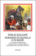 Copertina del libro Romanzi di giungla e di mare di Emilio Salgari