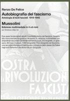 Copertina del libro <i>Autobiografia del fascismo</i> con <i>Mussolini</i> in 4 cd-rom di Renzo De Felice