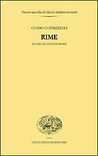 Copertina del libro Rime di Guido Guinizzelli