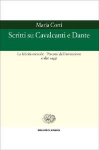 Copertina del libro Scritti su Cavalcanti e Dante di Maria Corti