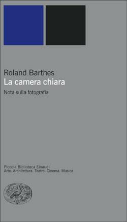 Copertina del libro La camera chiara di Roland Barthes