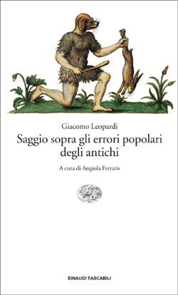Copertina del libro Saggio sopra gli errori popolari degli antichi di Giacomo Leopardi