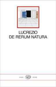 Copertina del libro De rerum natura di Lucrezio