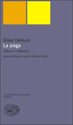 Copertina del libro La piega di Gilles Deleuze