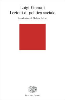Copertina del libro Lezioni di politica sociale di Luigi Einaudi