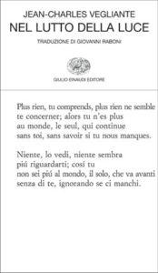 Copertina del libro Nel lutto della luce di Jean-Charles Vegliante