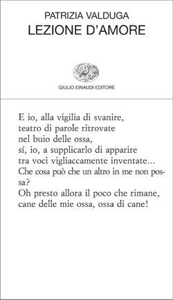 Copertina del libro Lezione d'amore di Patrizia Valduga