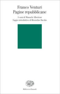 Copertina del libro Pagine repubblicane di Franco Venturi