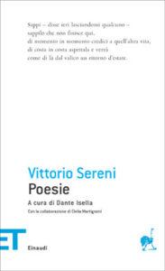 Copertina del libro Poesie di Vittorio Sereni