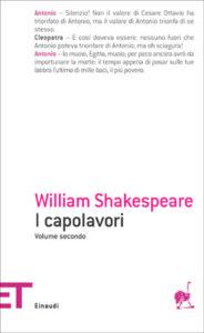 Copertina del libro I capolavori. Volume secondo di William Shakespeare