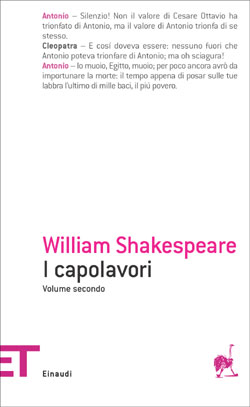 Copertina del libro I capolavori. Volume secondo di William Shakespeare