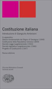 Copertina del libro Costituzione italiana di VV.