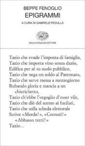 Copertina del libro Epigrammi di Beppe Fenoglio
