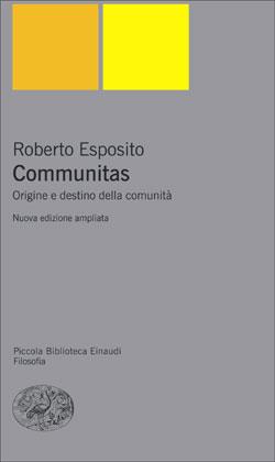 Copertina del libro Communitas di Roberto Esposito