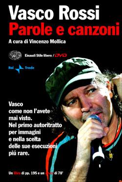 Copertina del libro Parole e canzoni di Vasco Rossi