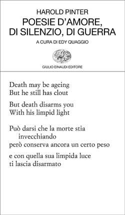 Copertina del libro Poesie d'amore, di silenzio, di guerra di Harold Pinter