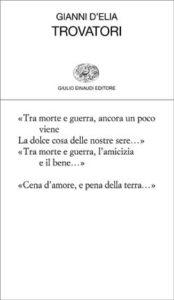 Copertina del libro Trovatori di Gianni D'Elia