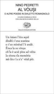 Copertina del libro Al vòusi di Nino Pedretti
