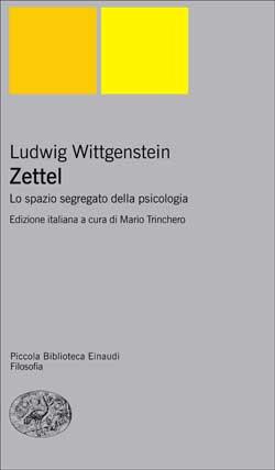 Copertina del libro Zettel di Ludwig Wittgenstein
