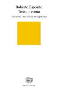 Copertina del libro Terza persona di Roberto Esposito