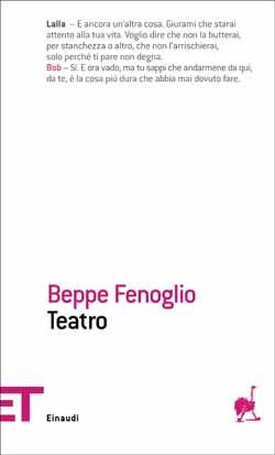 Copertina del libro Teatro di Beppe Fenoglio