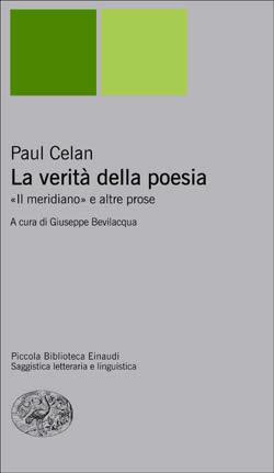 Copertina del libro La verità della poesia di Paul Celan
