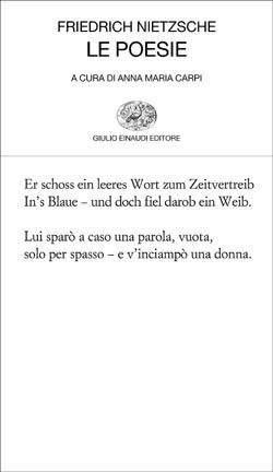 Copertina del libro Le poesie di Friedrich Nietzsche
