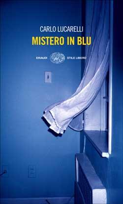 Copertina del libro Mistero in blu di Carlo Lucarelli
