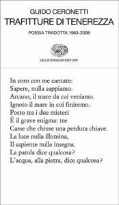 Copertina del libro Trafitture di tenerezza di Guido Ceronetti