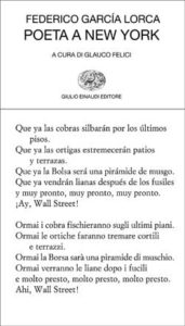 Copertina del libro Poeta a New York di Federico García Lorca