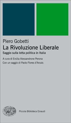Copertina del libro La Rivoluzione Liberale di Piero Gobetti