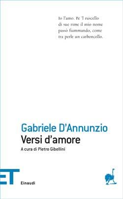 Copertina del libro Versi d'amore di Gabriele D'Annunzio