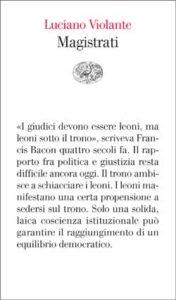Copertina del libro Magistrati di Luciano Violante