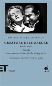 Copertina del libro Creature dell'orrore di Mary Shelley, Bram Stoker, Robert Louis Stevenson