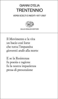 Copertina del libro Trentennio di Gianni D'Elia