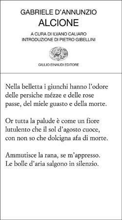 Copertina del libro Alcione di Gabriele D'Annunzio