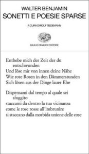 Copertina del libro Sonetti e poesie sparse di Walter Benjamin