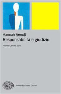 Copertina del libro Responsabilità e giudizio di Hannah Arendt