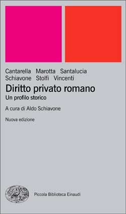 Copertina del libro Diritto privato romano