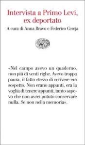 Copertina del libro Intervista a Primo Levi, ex deportato di Anna Bravo, Federico Cereja