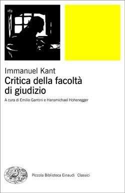 Copertina del libro Critica della facoltà di giudizio di Immanuel Kant