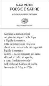 Copertina del libro Poesie e satire di Alda Merini