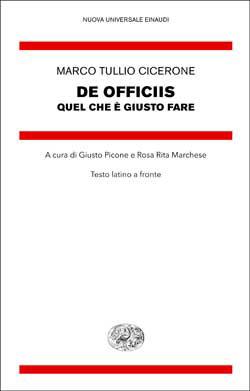 Copertina del libro De officiis di Marco Tullio Cicerone