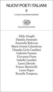 Copertina del libro Nuovi poeti italiani 6