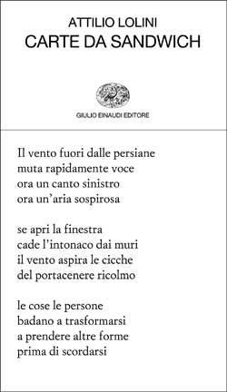Copertina del libro Carte da sandwich di Attilio Lolini