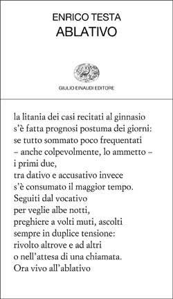 Copertina del libro Ablativo di Enrico Testa