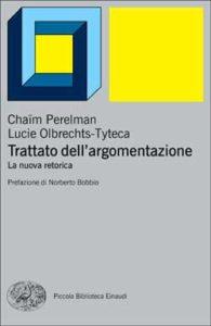Copertina del libro Trattato dell'argomentazione di Chaïm Perelman, Lucie Olbrechts-Tyteca