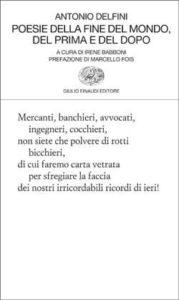 Copertina del libro Poesie della fine del mondo, del prima e del dopo di Antonio Delfini